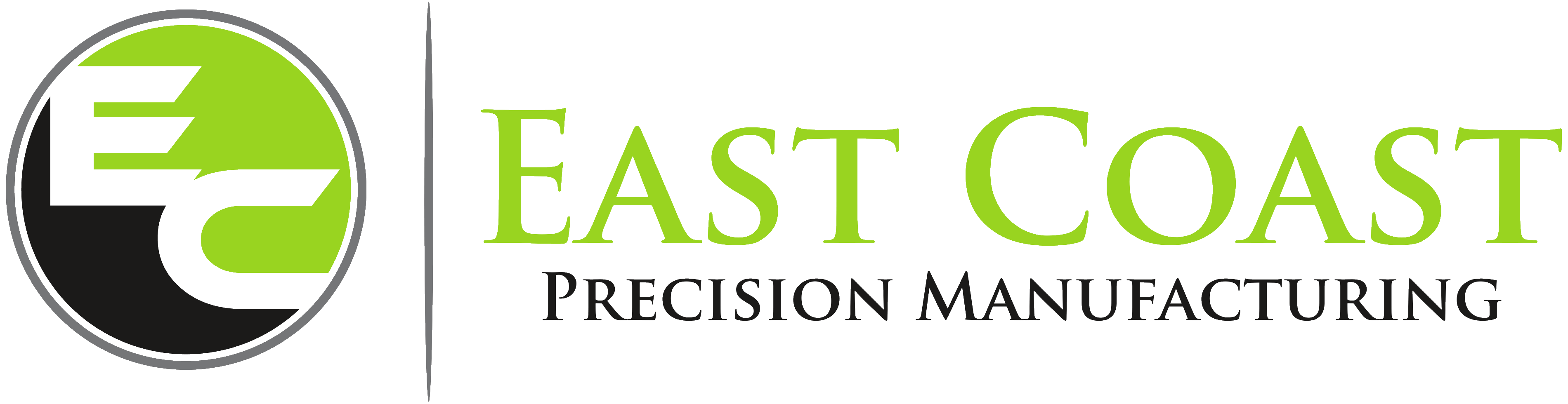 east coast precision manufacturing logo - plastic machining & vapor polishing services chester CT