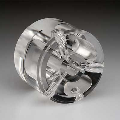 acrylic manifold example - vapor polishing services